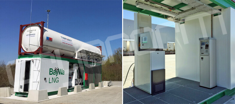 Cryonorm mobile LNG fueling station